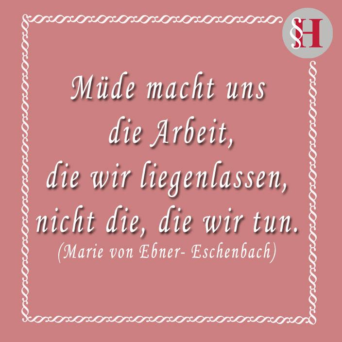 Jura Zitat Marie Ebner von Eschenbach Zitat