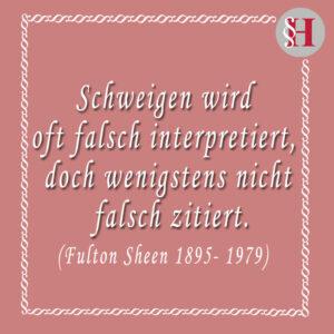 Fulton Sheen Jura Zitat